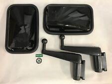 Bearmach Land Rover Defender Gloss Nero Specchietto Retrovisore Esterno teste, braccia x2 & VITI x4