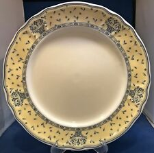 Epoch Blue Baskets Dinner Plate (s) #E833 Yellow Rim