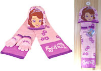 Disney Princess Sofia The First Matching Pink Hat Scarf & Gloves Accessory Set