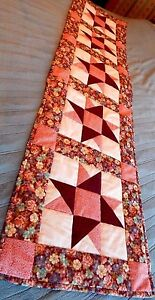 Beautiful Handmade Quilt Quilted 17 by 60 inch Tabletop Runner BRAND NEW