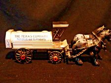 Texaco Replica Early 1900's Horse & Tanker BANK by ERTL Collector's Series #8 Li