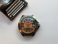 RARE USSR WATCH VOSTOK SUNSHINE SUN DIAL KOMANDIRSKIE COLLECTIBLE SERVICED