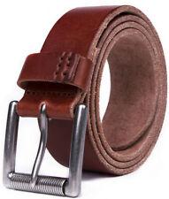 Men's Genuine Leather Belt Casual Dress Belt for Mens