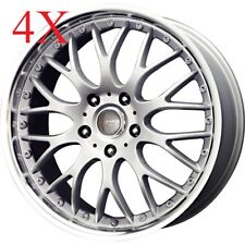 Drag Wheels DR-19 17x7.5 5x120 Silver Rims For 330 E30 BMW 325I 328I 318I 330I