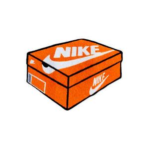 New Custom Made Nike Sneakers OG Orange Box Logo Floor Door Mat Rug Carpet