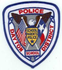 TEXAS TX DAYTON SCHOOL DISTRICT POLICE NEW PATCH SHERIFF