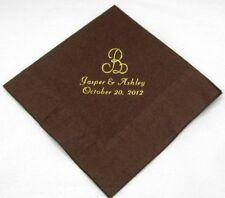 50 Monogram beverage napkins wedding shower birthday bridal graduation favors