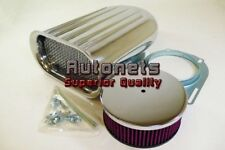 Washable Polish Aluminum Hilborn Mini Wide Fin Air Hood Scoop Single 4BBL Blower