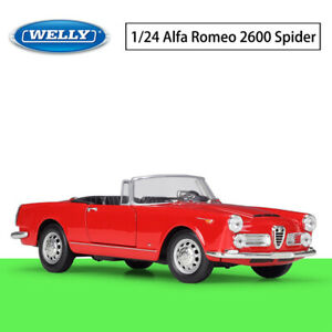 Welly 1:24 For 1960 Alfa Romeo 2600 Spider Diecast Alloy Car Model  Mens Gift