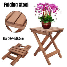 New listing Shower Stool Seat Bathroom Spa Bench Folding Chair Bamboo Wood Bath Foot Rest