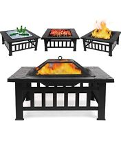 fire pit grill with cover