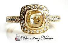 Cushion Engagement Yellow Gold 18 Carat Fine Diamond Rings