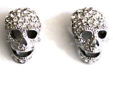 Butler y Wilson Grandes Transparente Crystal Skull Tachas pendientes Nueva