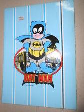 Batman Virca Baby Super Man Carpetta Elastico SCHOOL FOLDER Vintage
