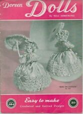 Vintage Crochet and Knitted Doll Pin Custion  Pattern Doreen Dolls Vol 104