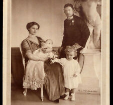Archdukes KARL FRANZ JOSEPH + ZITA + sons OTTO & Adelheid. Old R.PHOTO Postcard