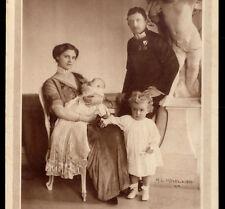 Archdukes KARL FRANZ JOSEPH + ZITA + sons OTTO & Adelheid. Old R.PHOTO Postcard