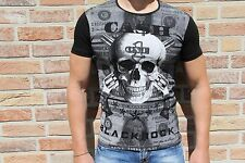 Blackrock Herrenshirt Skull Totenkopf Strass sexy Party schwarz *NEU* Gr. L