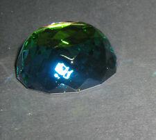 Mezza Sfera Cristallo Molato Peacock GLASS CRYSTAL COLOUR ORNAMENT 108009-50x18