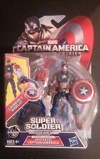 "MARVEL SUPER SOLDIER GEAR SHIELD BLITZ CAPTAIN AMERICA 3.75"" FIGURE"