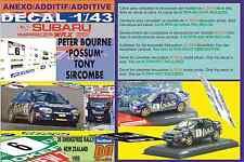 "ANEXO DECAL 1/43 SUBARU IMPREZA 555 P.BOURNE ""POSSUM""R.NEW ZEALAND 1995 7th (01)"