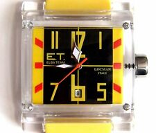 ELBA TEAM ET-380 LOCMAN WATCH - Black/Yellow/Red Face, Yellow Strap. NWOT, Boxed