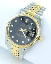 Rolex Datejust Herren Uhr mit Diamanten Brillanten Stahl/Gold - 16013