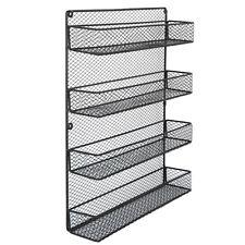 Kitchen Wall Mount Pantry Rack Door Spice Jar Storage Organizer Shelf Holder
