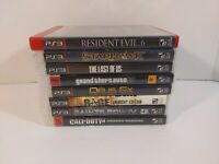 PS3 Playstation 3 8 games lot Last of Us Resident Evil GTA Deus Ex Saints Row +