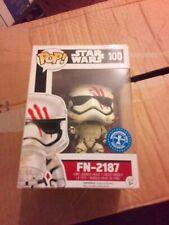 Star Wars FN-2187 Finn Stormtrooper Blood Smear Funko Pop Vinyl Exclusive