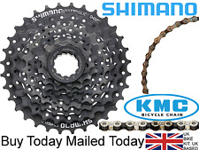 Shimano 8 speed Mountain Bike Cassette Cogs 11-32 + KMC Z51 Nickle Plated Chain