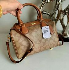 Coach Bag Mini Bennet Doctors Satchel Sling Crossbody signatured brown