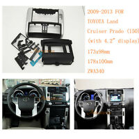 Car Radio Fascia DVD Frame Facia For TOYOTA Land Cruiser Prado (150) 2009-2013