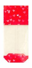 50 x rouge amour coeur valentine's sac cadeau bloc fond clair violoncelle traiter sac