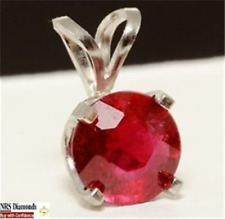 1.02ct Genuine Ruby Solid PLATINUM Pendant FREE SHIPPING