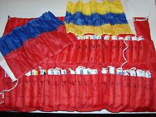 Signalflaggen 40 Flaggen Internationales Flaggenalphabet m Segeltuchtasche
