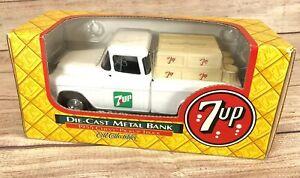 1995 7UP Ertl Die-Cast Metal Bank-1955 Delivery Truck  1/25 Scale NIB