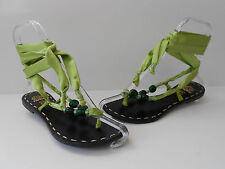 TIURAI GLADIATOR SATIN RIBBON LEATHER THONG SANDALS WOMEN SIZE US 6 HOT NEW