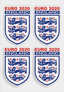 England Euro 2020 football, Soccer,  set of 4 supporters stickers