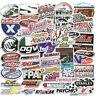 50Pcs Auto Car Parts NHRA Drag Racing Vinyl Graphics Stickers Bomb Decals Sheet