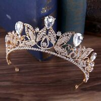 Delicate Clear Leaves Shape Elegant Hair Band Crown Women Noble Bride Wedding