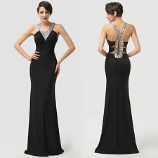 Elegant BEAD Bodycon Formal Evening Party Masquerade Ball Gowns Long Prom Dress