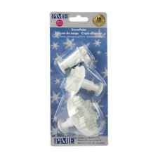 PME Set of 3 SNOWFLAKE Plastic Icing Cut Out Plunger Cutters Sugarcraft Cake Dec