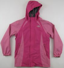 The North Face pink hooded HyVent waterproof jacket girls filles Extra Large XL
