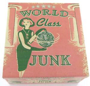 World-Class Junk Petite Cigar Tin Box - Treasure Retro Kitsch Storage Stash
