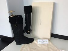 **REDUCED** JIMMY CHOO Size 36 Uk 3 RRP £775 BLACK SUEDE KNEE High BOOTS  NEW*