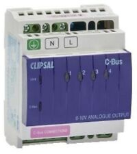 Clipsal C-BUS ANALOGUE OUTPUT UNIT 8mA 0-10V DC 4-Channel, DIN Rail*Aust Brand