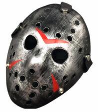 Plata psicosis maníaco MÁSCARA DE HOCKEY JASON viernes 13th Vestido Elaborado Halloween para adulto
