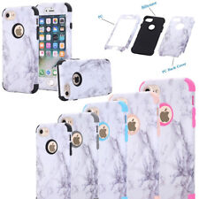 Granite Marble Protective Hybrid Rugged Hard Case For iPhone 5 SE 6 6s 7 8 Plus