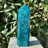 2.94LB Natural Blue Apatite Quartz Crystal Obelisk Wand Point Healing.